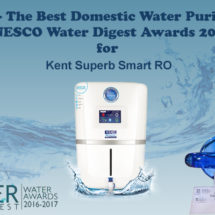Kent RO – The Best Domestic Water Purifier Brand at UNESCO Water Digest Awards 2016-17