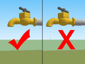 turn off the tap tightly after usage