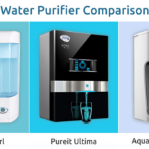 Comparison between Kent Pearl, Pureit Ultima and Aquaguard Magna