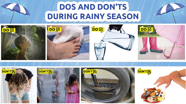 Dos and Don'ts to Take Care of Health during Rainy Season