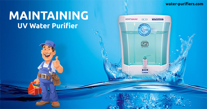 Maintaining UV water purifier